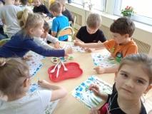 Praca plastyczna w grupie IV Wiosenna Łąka